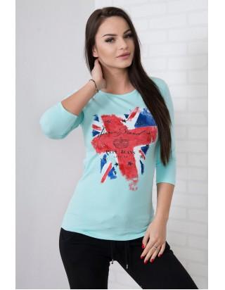 Krásne štýlové london triko mentol