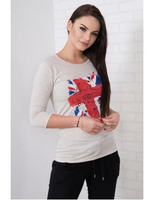 Krásne štýlové london triko béžové