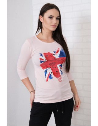 Krásne štýlové london triko ružové