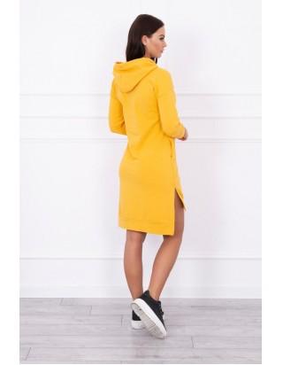 Športové žlté štýlové šaty predĺžené zozadu 434a5df71b4