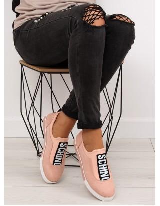 Dámske ružové tenisky bez šnúrok
