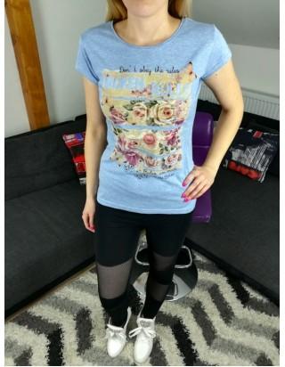 Dámske letné tričko v modrej farbe