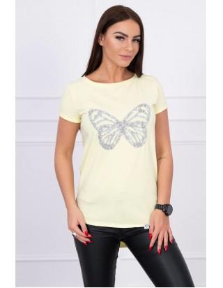0806290de89f Krátke letné dámske tričko žlté