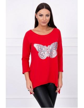 9673b42df9cc Červená tunika s motýľom ...