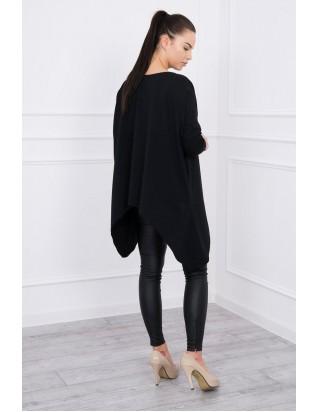 Dámska tunika elegantná v čiernej farbe