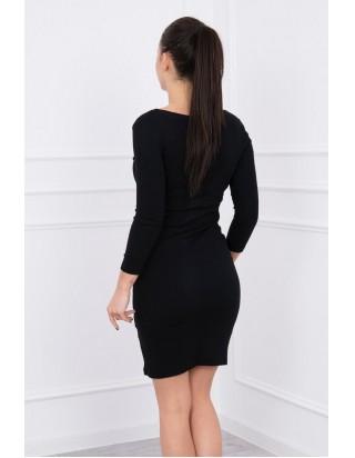 6673db7577 Dámske moderné šaty v čiernej farbe