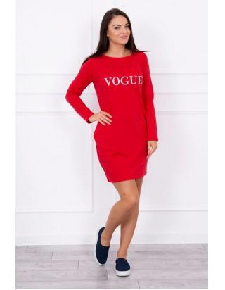 de412d39ab Ľahké voľne šaty v červenej farbe