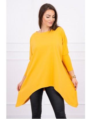 Moderná predĺžená tunika žltá
