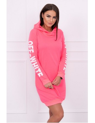 Dámske neónové ružové šaty