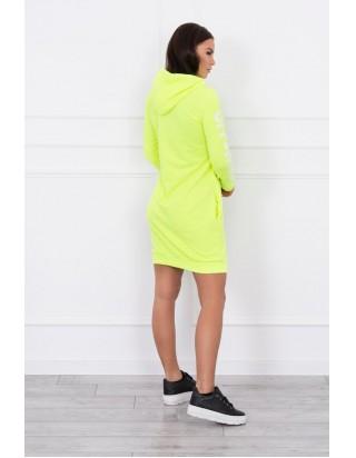 Dámske športové neónové šaty žlté