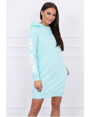 Moderné mentolové dámske šaty