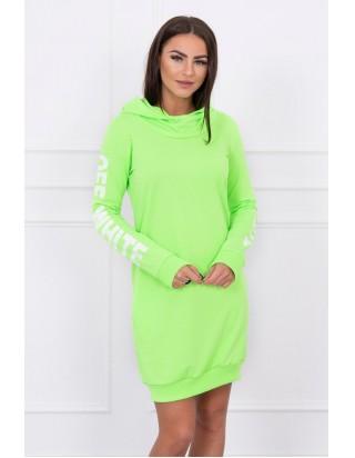 Dámske športové neónové šaty zelené
