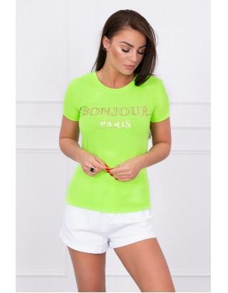 Letné dámske zelené tričko