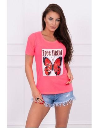 Letné ružové tričko