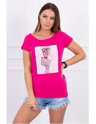 Dámske cyklamenové tričko