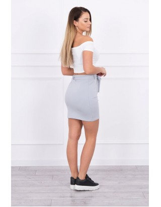Dámska šedá sukňa