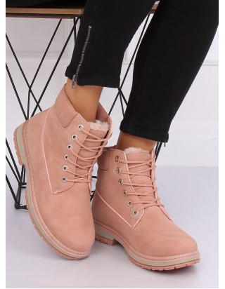 Ružové zimné topánky