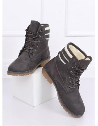 Zateplené šedé topánky