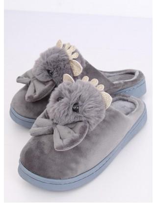 Dámske šedé papučky Myška