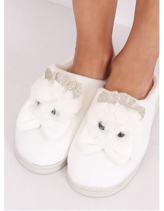 Dámske biele papučky Myška