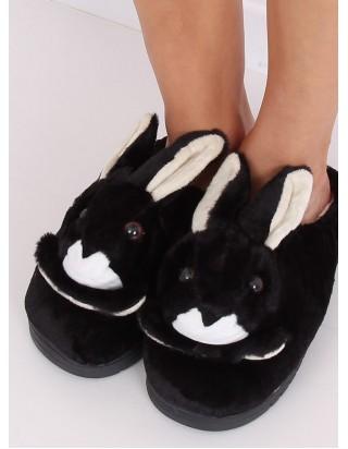 Dámske čierne papučky Zajko