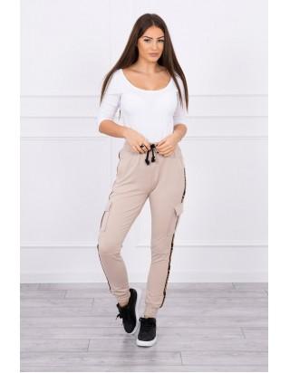 Dámske béžové nohavice