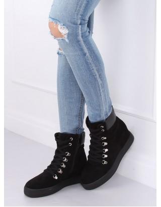 Topánky na skrytom podpätku čierne