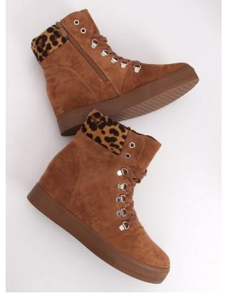 Topánky na skrytom podpätku hnedé