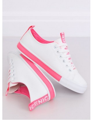 Dámske bielo-ružové tenisky