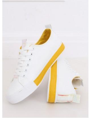 Dámske bielo-žlté tenisky