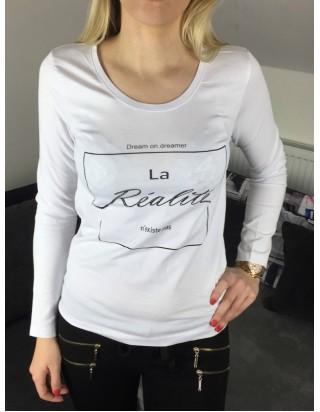 dámske biele tričko