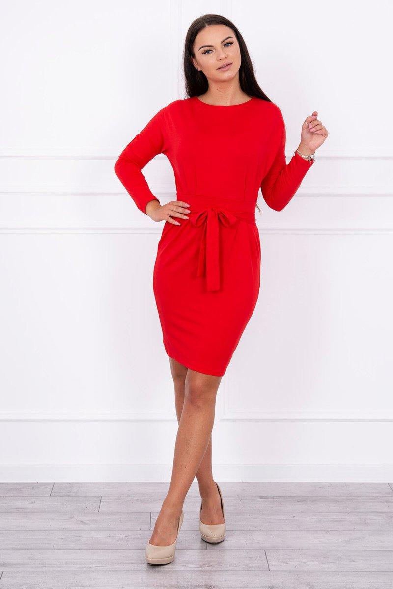 8013ff0c61 Červené šaty na viazanie v páse
