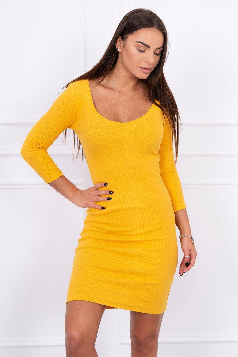 7d4265eae4e9 Horčicové jednoduché šaty Horčicové jednoduché šaty Horčicové jednoduché  šaty