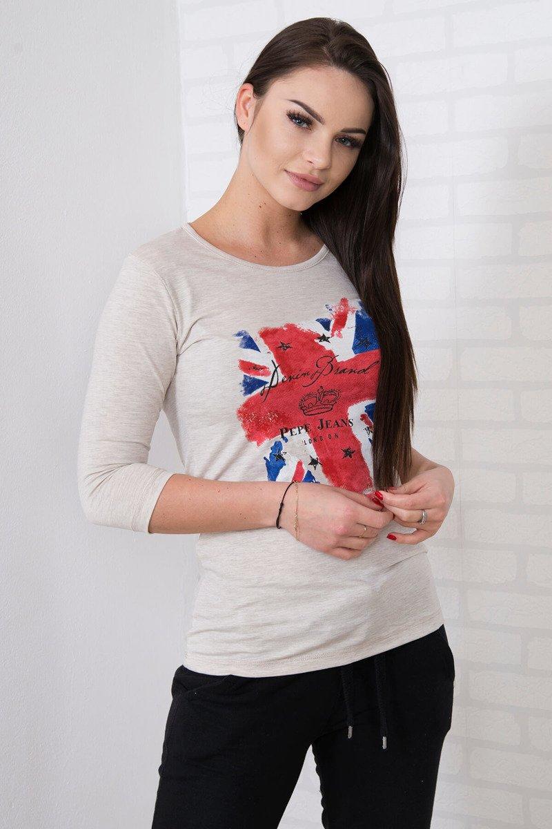 Timmyoblečko - Krásne štýlové london triko béžové 426448ef0e9