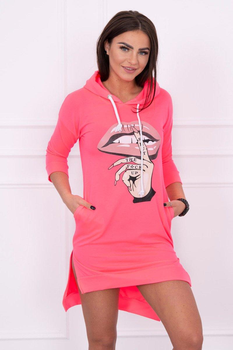cef74b00ad2c Timmyoblečko - Športové ružové štýlové šaty predĺžené zozadu