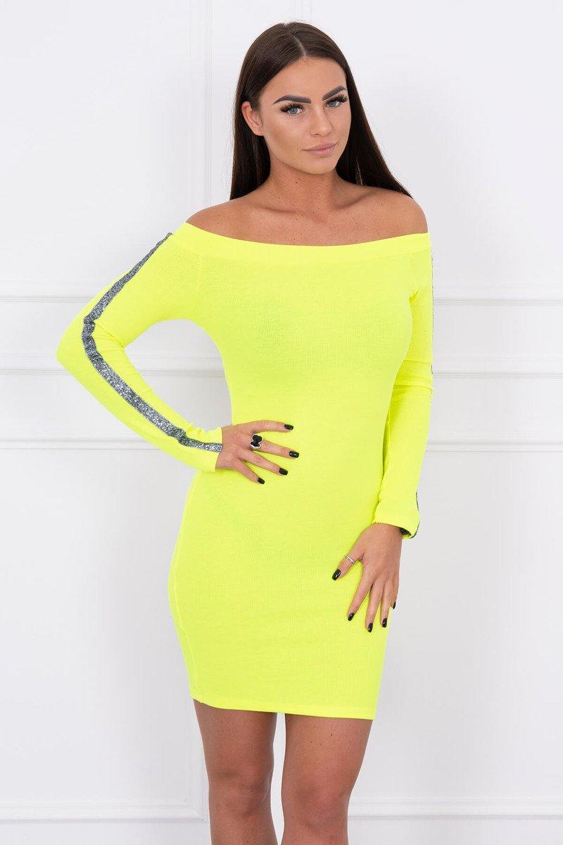 Koktejlové šaty žlté. Dostupnosť  Skladom (dodanie ... 424ec93f3d0