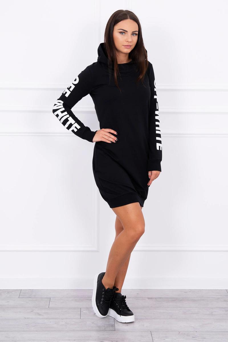 Timmyoblečko - Moderné štýlové šaty čierne 3ece238a16b