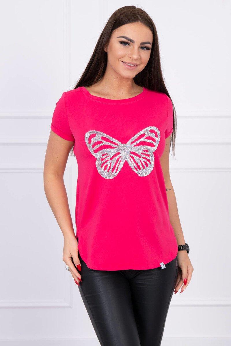 735e5bd2e460 Timmyoblečko - Krátke letné dámske tričko cyklamenové