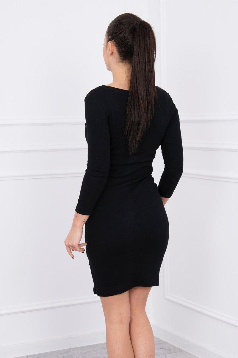 cac7e0db355f4 Timmyoblečko - Dámske moderné šaty v čiernej farbe