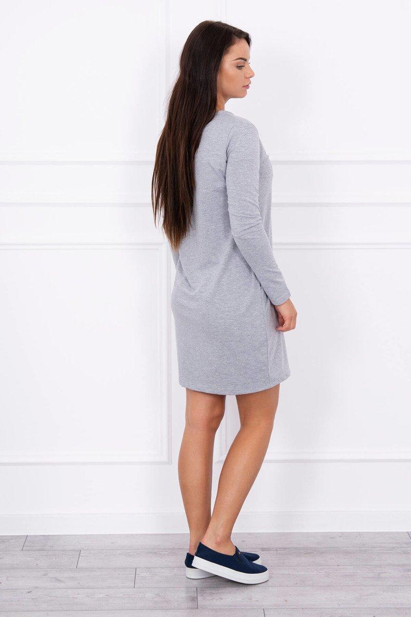 e35c9251d08c Timmyoblečko - Krásne šedé šaty príjemného materiálu