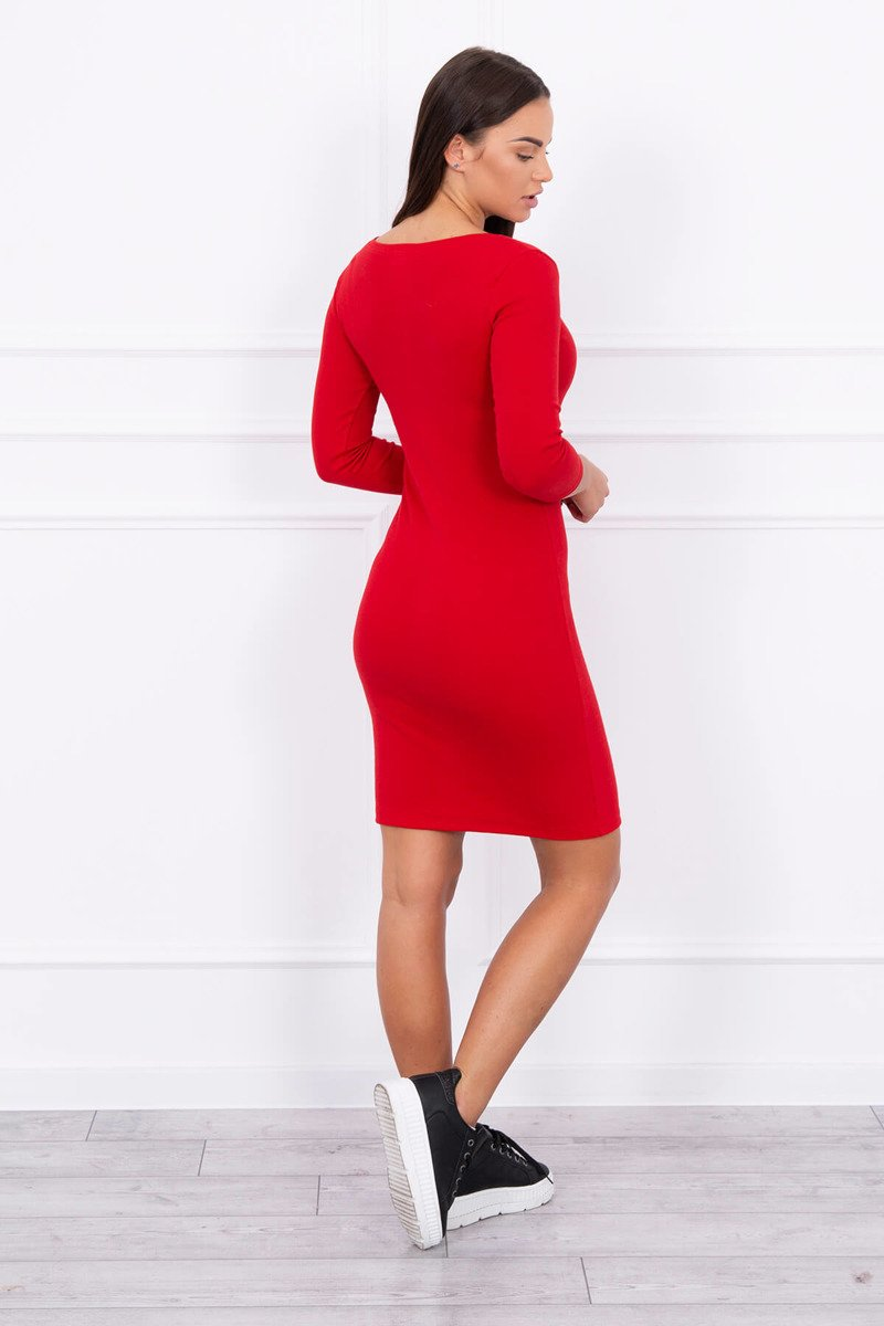 1e9ac5858b3e Timmyoblečko - Dámske jednoduché šaty červené