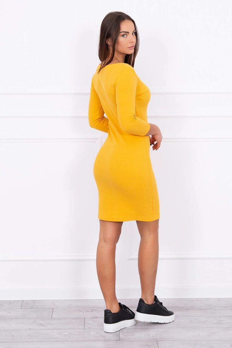 e0ed1106e491 Timmyoblečko - Dámske krásne žlté jednofarebné šaty