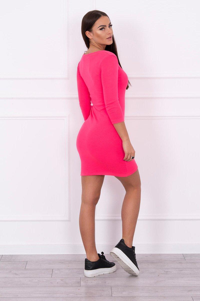 5fd677eb29c4 Timmyoblečko - Dámske neónové ružové šaty