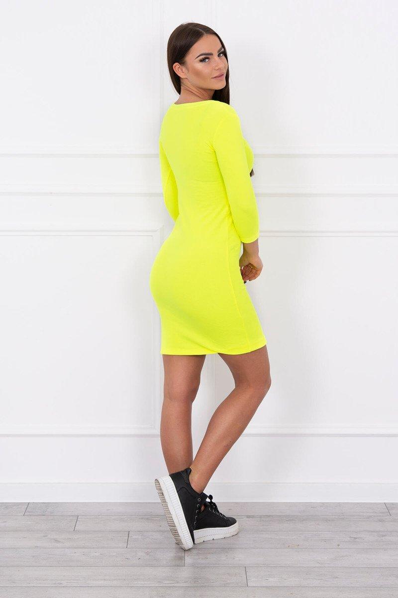 4c474b519970 Timmyoblečko - Jednoduché neónové žlté šaty