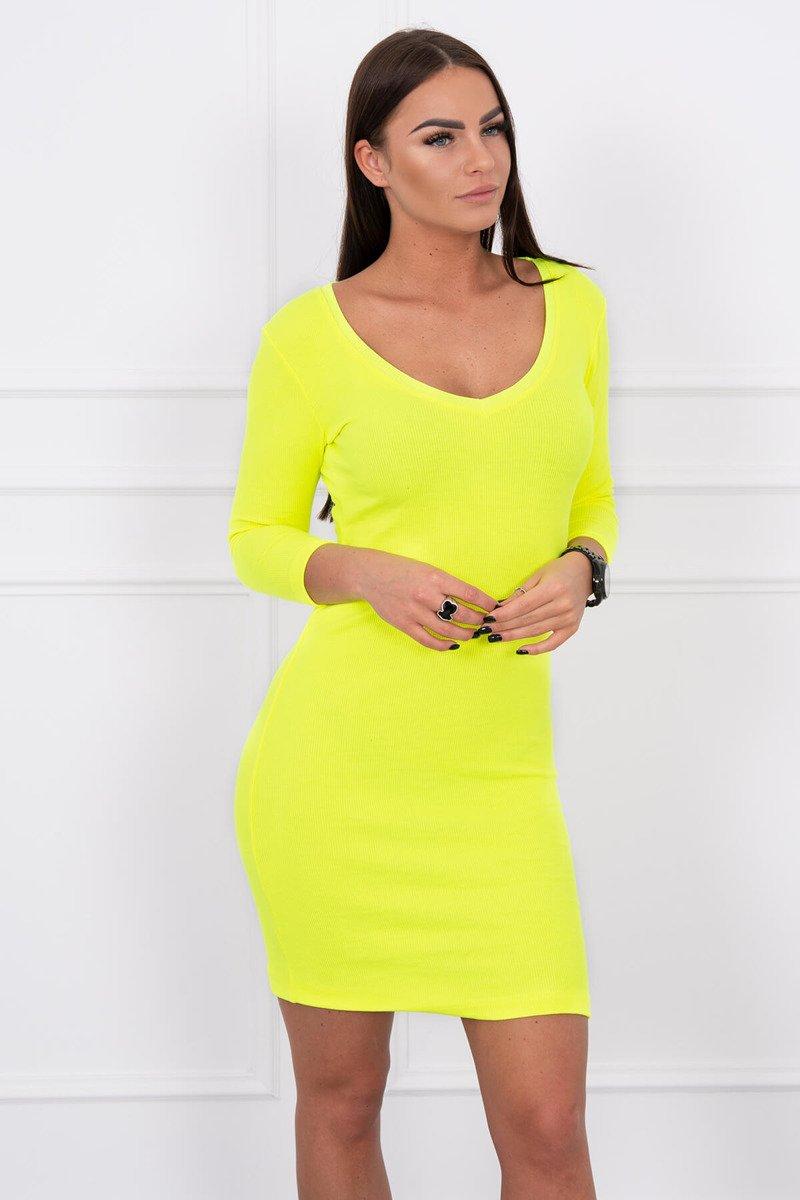 6c1f8dba7e3a Jednoduché neónové žlté šaty