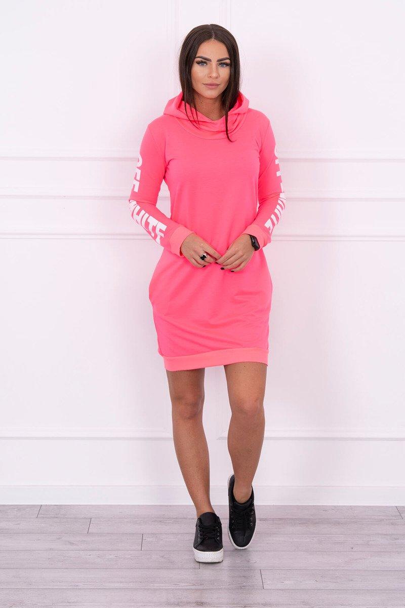 9ee5a62d2 Timmyoblečko - Dámske neónové ružové šaty