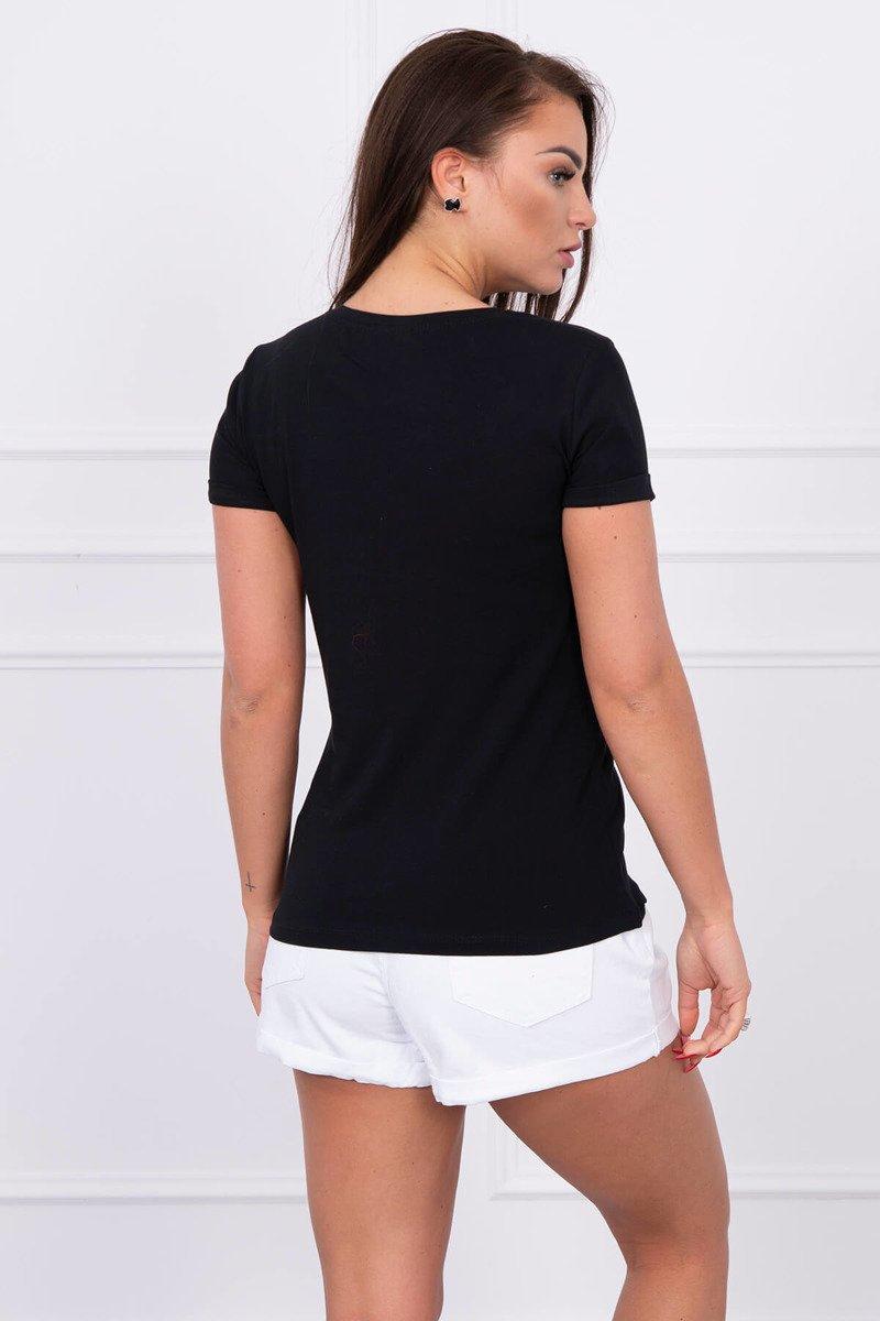 768c45a9486b Timmyoblečko - Dámske čierne tričko Paris