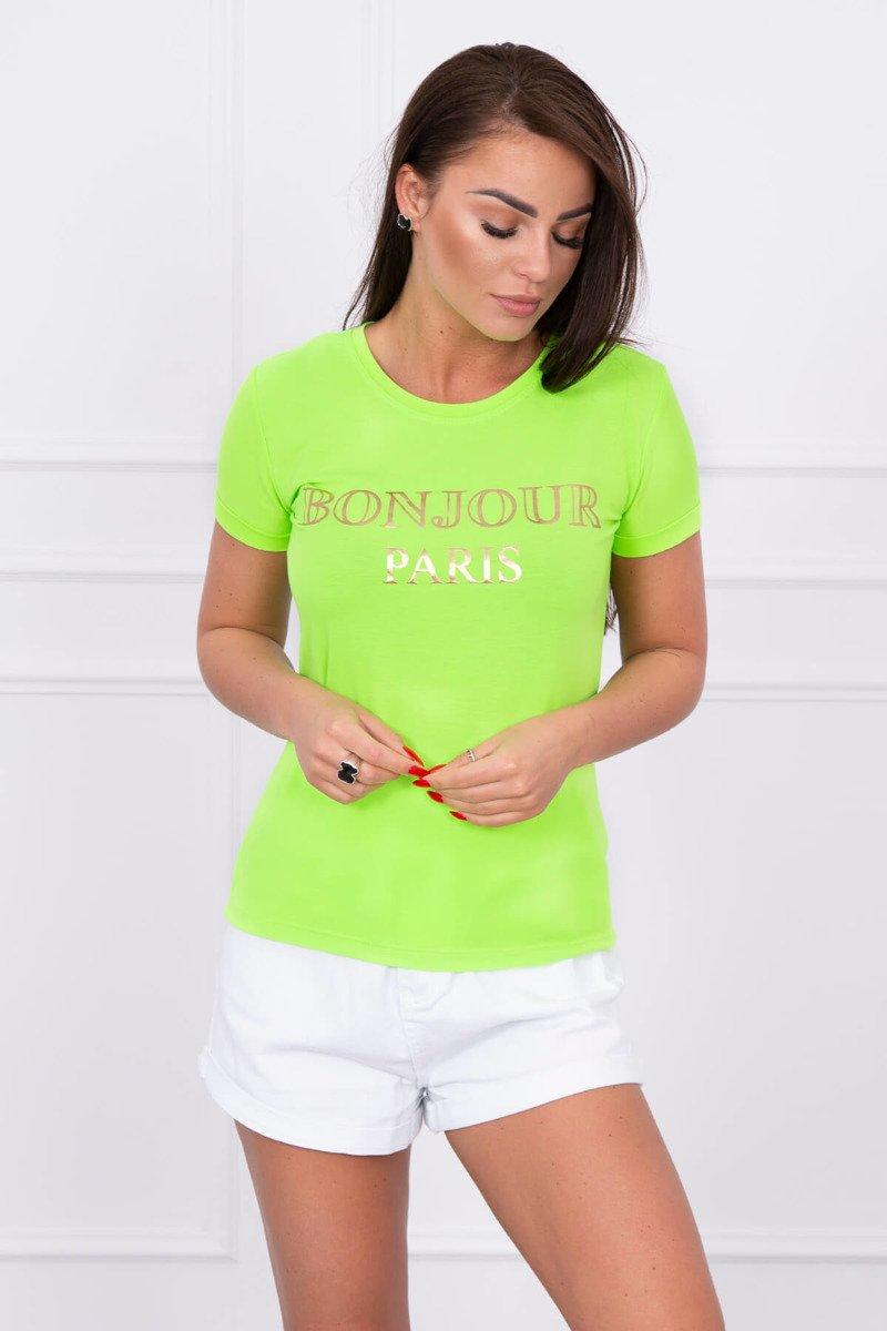 719eec1c57fac Timmyoblečko - Letné dámske zelené tričko