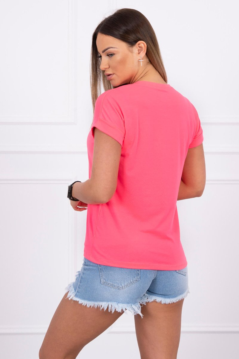 37e874cb9 Timmyoblečko - Dámske letné ružové tričko